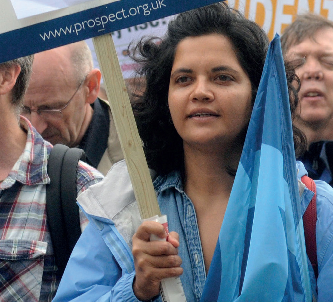 "Hajira on the TUC ""Britain needs a pay rise"" march"