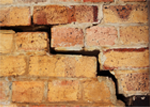 Cracked brickwork