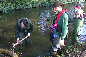 Environment Agency staff at work