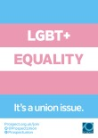 LGBT+ Trans equality – It's a union issue poster