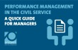 Performance management in the civil service: quick guide for managers