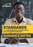 Standards for Professionals in Education and Children's Services – Guidance Notes