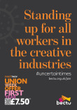 Bectu Union Week 2020 A4 poster