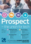 Prospect – the union for tech, recruitment flyer