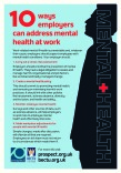 Ten ways employers can address mental health at work