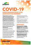 Safer working practices, guidance for members