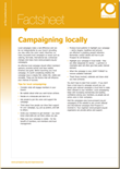 Campaigning locally factsheet