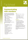 Communicating with members factsheet