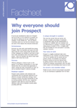 Why everyone should join Prospect factsheet