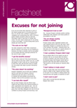 Excuses for not joining factsheet