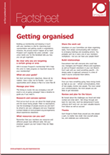 Getting organised factsheet