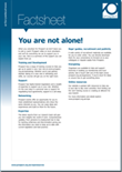 You are not alone factsheet
