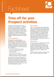 Time off for your Prospect activities factsheet
