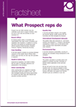 What Prospect reps do factsheet