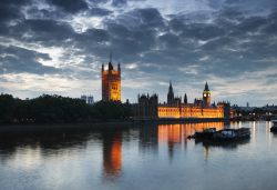 Palace of Westminster after dark