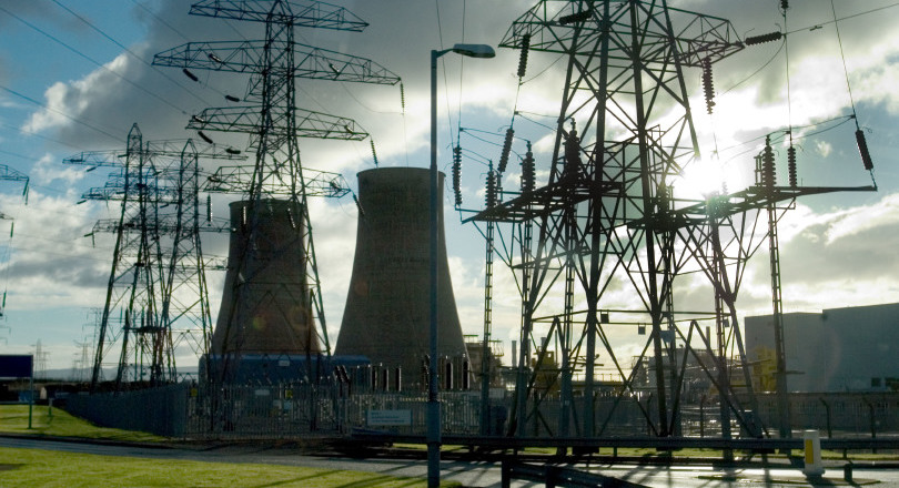 Pylons at Sellafield nuclear site