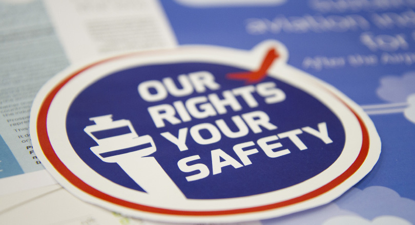 Our Rights Your Safety campaign logo