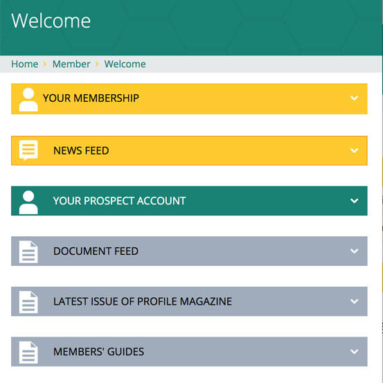 Screenshot of welcome page